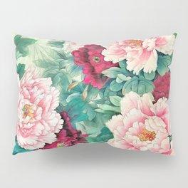 Light pink and purple peonies Pillow Sham