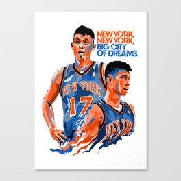 Jeremy Lin: New York, New York, Big City of Dreams. Canvas Print