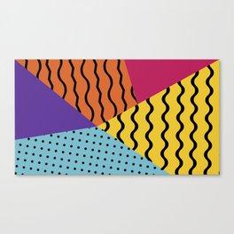Wacky Geo Wave Canvas Print