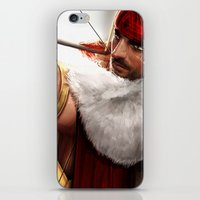 rogue iPhone & iPod Skins featuring Rogue by KlsteeleArt