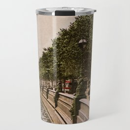 Vintage The Embankment, River Thames, London Travel Mug