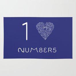 I heart Numbers Rug