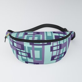 Geometric rectangles pattern violet Fanny Pack