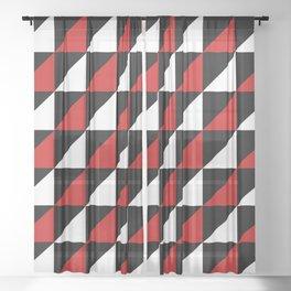 Winter Semaphore Sheer Curtain