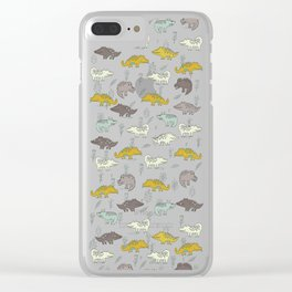 Crocodiles Clear iPhone Case