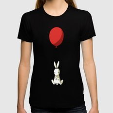 Balloon Bunny MEDIUM Black Womens Fitted Tee
