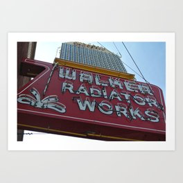 Walker Radiator Works Art Print