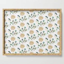 Ginkgo Floral Serving Tray
