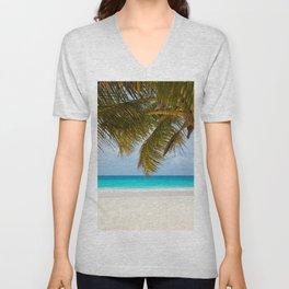 Tropical Beach Unisex V-Neck