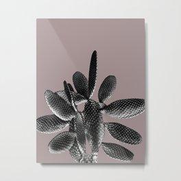 Black Mauve Cactus #1 #plant #decor #art #society6 Metal Print