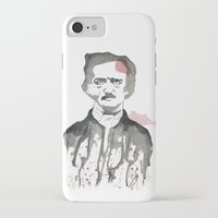 poe iPhone & iPod Cases featuring Poe by Eda ERKOVAN