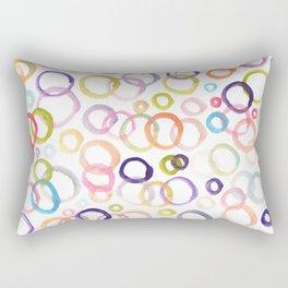painted circle patterned Rectangular Pillow