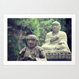 2 Statues  Art Print