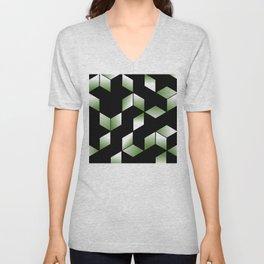 Elegant Origami Geometric Effect Design Unisex V-Neck