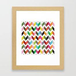 Ziggy chevron Framed Art Print
