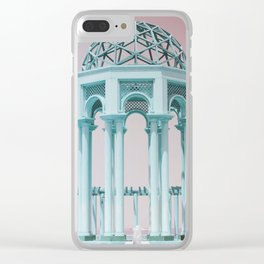 Retro Kuwait Clear iPhone Case