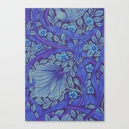 William Morris Indigo Forget Me Not Floral Art Nouveau Canvas Print