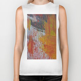 Abstract Paint Swipes Biker Tank