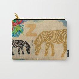 English alphabet, Zebra Carry-All Pouch