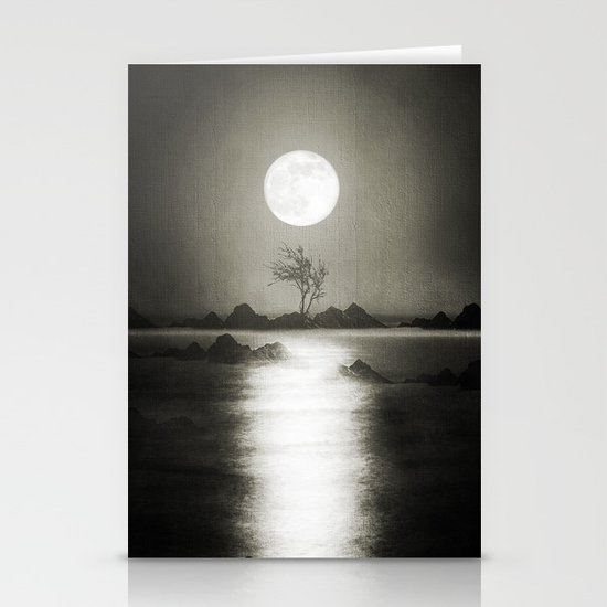 When the moon speaks (part III) Stationery Cards