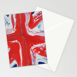 Abstract Union Jack Stationery Cards