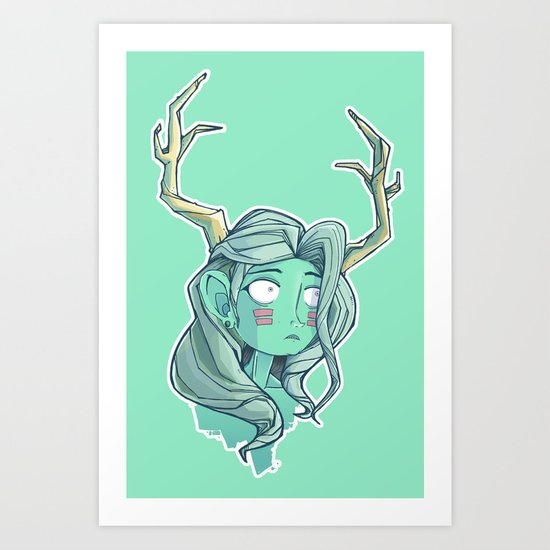 Born to Rein.  Art Print