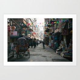 Kathmandu Street Art Print