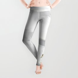 Be Who You Are (gold on grey and white) Leggings