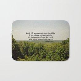 Psalm 121:1-2  Bath Mat