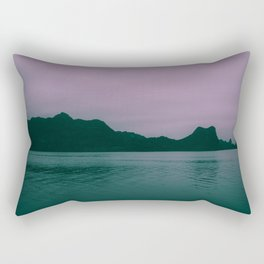 Seascape at Dusk. Ha Long Bay, Vietnam. Landscape Photography. Rectangular Pillow
