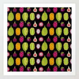 strange fruits Art Print