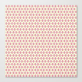 Sweet Pink & Green Watermelon Slices Pattern Canvas Print