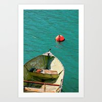 Boat and Blue Waters Art Print