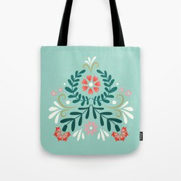 Floral Folk Pattern Tote Bag