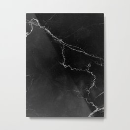 MARBLE BLACK & WHITE Metal Print