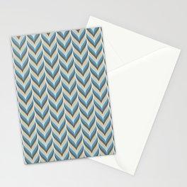 Modern Geometric Chevron Leaf Pattern Stationery Cards