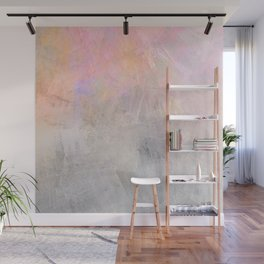 Pastel Candy Iridescent Marble on Concrete Wall Mural