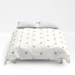 Gold Watercolour Bee Print Comforters