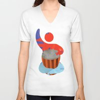 drum V-neck T-shirts featuring Own drum by ArtistArt