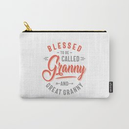 Womens Blessed Granny and Great Granny Carry-All Pouch
