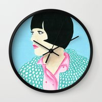 anna Wall Clocks featuring Anna by kate gabrielle