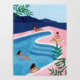 Pool ladies Poster