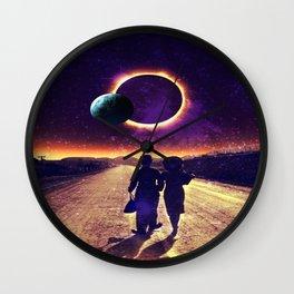walking to the sun Wall Clock