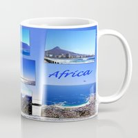 south africa Mugs featuring South Africa Landscape by Art-Motiva