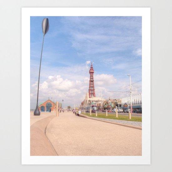 Blackpool Tower and Oar Art Print