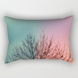Same Tree Different Day Rectangular Pillow
