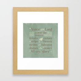 Psalm 29 Framed Art Print