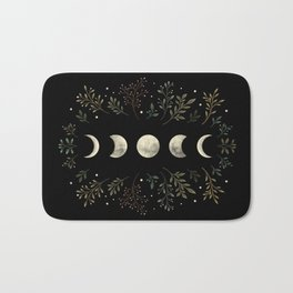 Moonlight Garden - Olive Green Bath Mat
