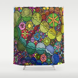 Circle Party Shower Curtain