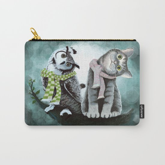Cat and Owl Carry-All Pouch